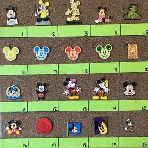 Disney Pins 5/$25 Mickey Mouse